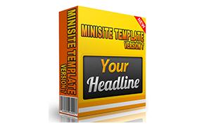 Minisite HTML PSD Template V7