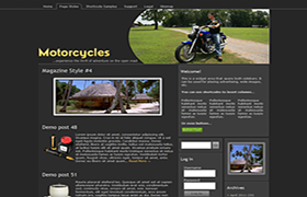 Motorcycles Niche WP Theme