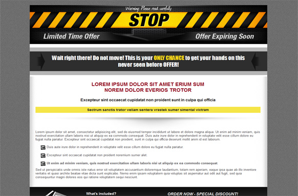 OTO HTML and PSD Squeeze Page Vol 3