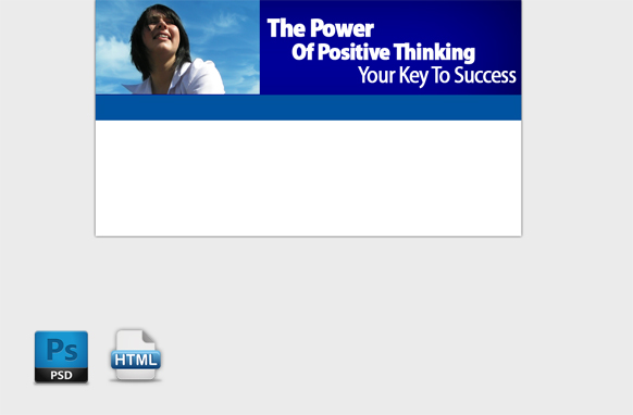 Positive Thinking HTML PSD Template