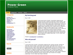 Power Green WP Theme Edition 1