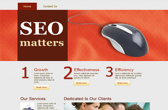 SEO Matters HTML Template and WP Theme