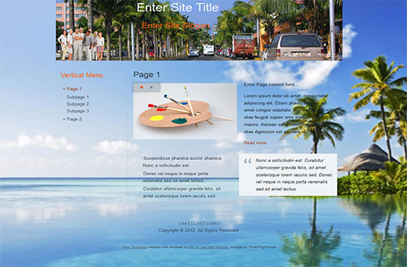 Vacation HTML Template and WP Theme