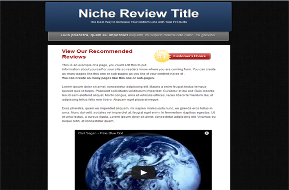 Video Review HTML Template Edition 3