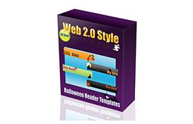 Web 2.0 Style Halloween Header Templates