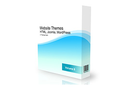 Website Themes HTML Joomla WordPress 5 Set