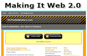 WordPress Theme Web 2.0 v1