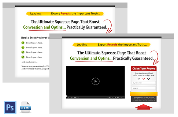 Squeeze Page and Video Squeeze Twin Set 1