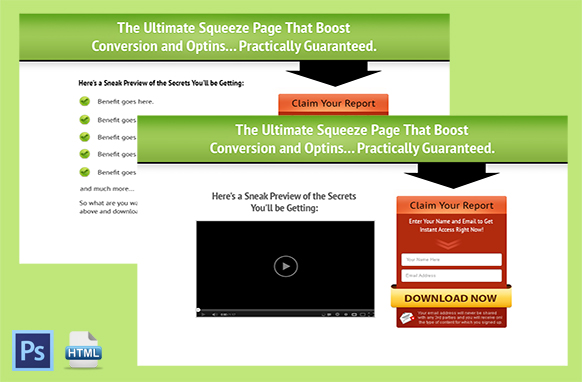 Squeeze Page and Video Squeeze Twin Set 2