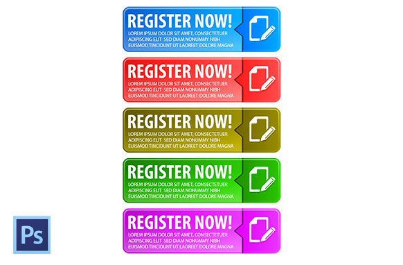 Register Now Buttons Style 2