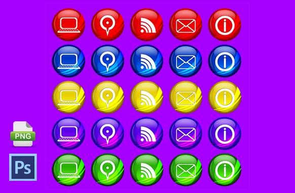 Rounded Icons PSD PNG