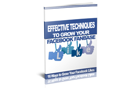 Effective Techniques To Grow Your Facebook Fanbase