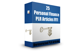 25 Personal Finance PLR Articles V11