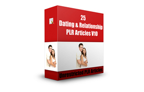 25 Dating and Relationship PLR Articles V10