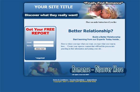 Better Relationships HTML PSD Squeeze Page Template