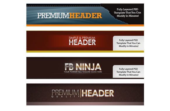 Banners and Headers 4 PSD Premium Set