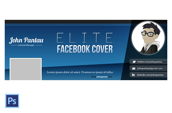 FB Cover PSD Template Version 4