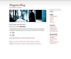 Blogates WP Theme