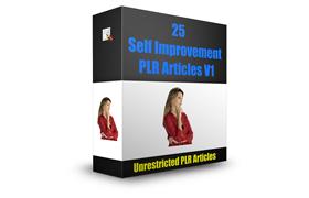 25 Self Improvement PLR Articles V1