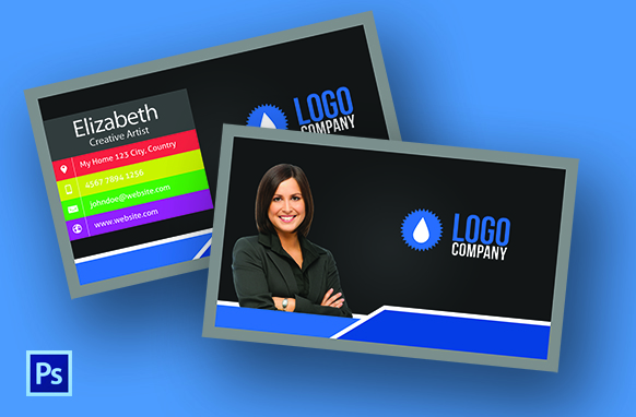 Horizontal PSD Style Business Card Edition 1