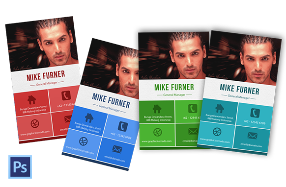 PSD Business Card Template Version 1