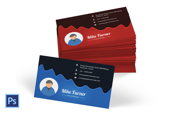 PSD Business Card Template Version 4