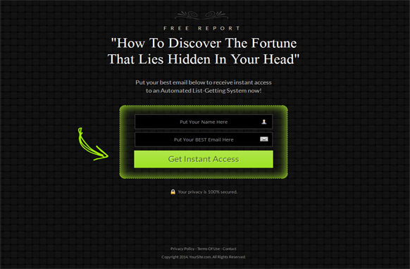 Green Style Responsive HTML Mobile Squeeze Page Edition 6