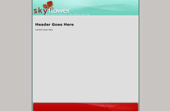 Sky Flower HTML PSD Website Template