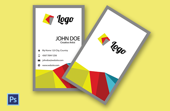Unique PSD Style Vertical Business Card Edition 1
