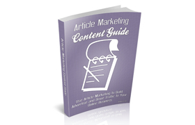 Article Marketing Content Guide