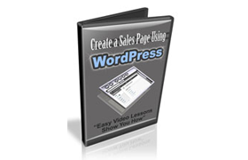 Create A Sales Page Using Wordpress