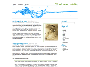 Water 1.0 WP Theme