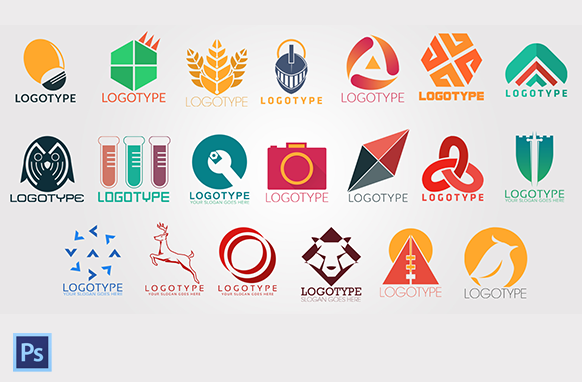 Unique PSD Logo Template Collection Editions 1 to 20