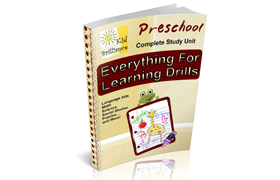 Preschool Complete Study Unit Everything For Learning Drills