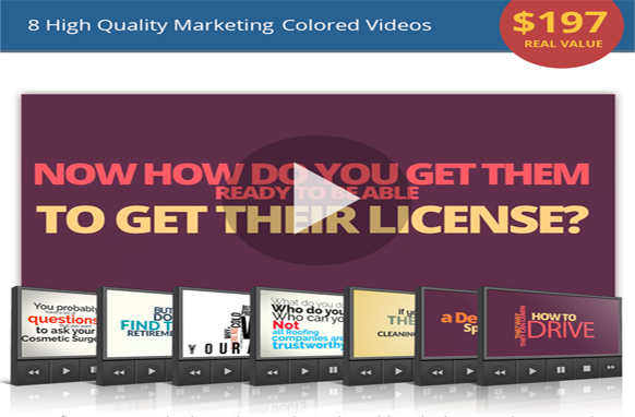 8 High Quality Marketing Colored Videos