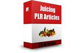 Juicing PLR Articles