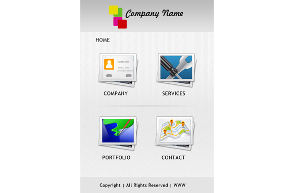 Business HTML PSD CMS Mobile Website Template