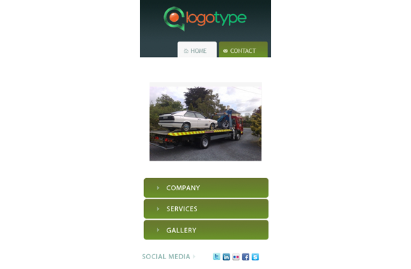Car Breakdown HTML PSD CMS Mobile Website Template