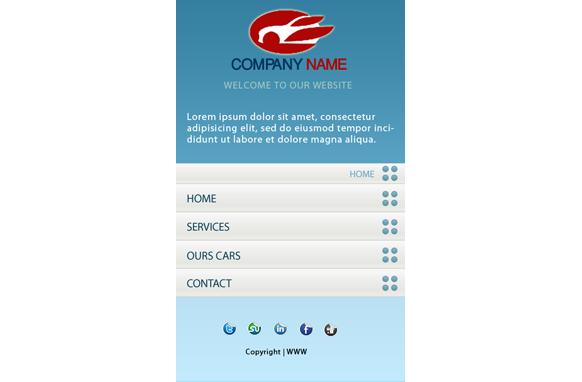 Car Rent HTML PSD CMS Mobile Website Template