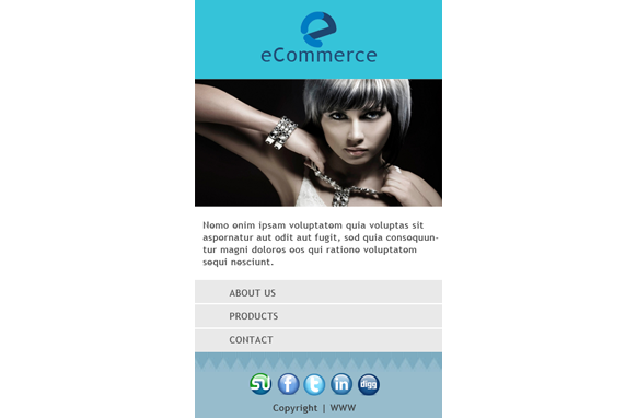 Ecommerce HTML PSD CMS Mobile Website Template