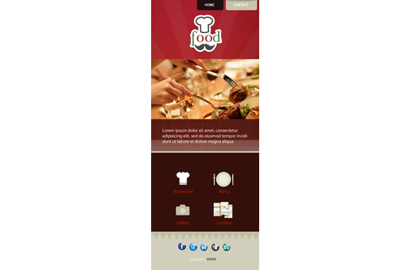 Food HTML PSD CMS Mobile Website Template