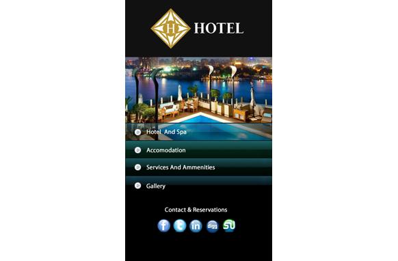 Hotel HTML PSD CMS Mobile Website Template