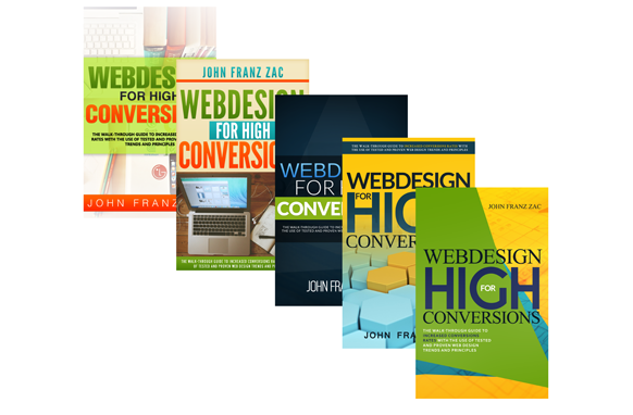 5 Web Design Concept Ebook PSD PNG Cover Templates