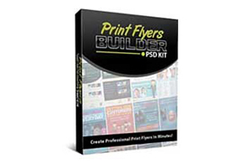 Print Flyers Builder PSD Kit
