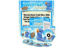 Twitter Magic Minisite PSD Template
