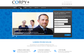 Corpy Business Template WordPress Theme