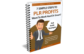 7 Simple Steps To PLR Profits Want Work Hard Or Smart