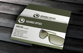 Advance Optics Business Card PSD Template