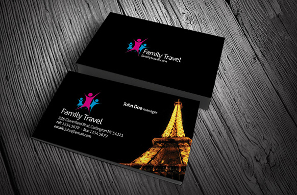 Family travel business card psd template plr database family travel business card psd template reheart