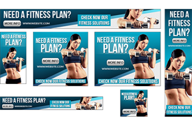 Fitness Advertisement PSD JPG Banners Vol 1